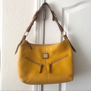 Dooney & Bourke Yellow Mary Hobo & Makeup Pouch